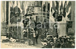 1908 MAGNAC-LAVAL (F) Inauguration Chemin de Fer - Ministre BARTHOU - Postcard