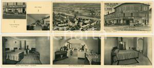 1920 ca PONT D'AIN (FRANCE) Hotel des ALLIÉS - Brochure ILLUSTRÉE