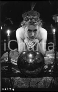 1965 ca VINTAGE EROTIC Nude woman with ball - NEGATIVE Raymond VAN DOREN