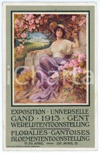1913 EXPOSITION UNIVERSELLE GAND Floralies Gantoises - French Postcard