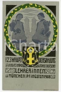 1908 MUNCHEN Hauptversammlung des Vereins Katholischer Deutscher - Postcard