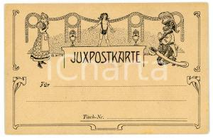 1900 ca WIEN ART NOUVEAU Artist Eduard WITTE - Juxpostkarte *Postcard