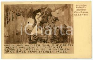 1912 BERLIN Weinabteilung Wandgemälde RATSKELLER CHARLOTTENBURG *Postcard