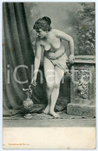 1910 ca VINTAGE EROTIC Nude woman as a classical slave - Postcard risque