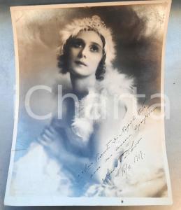 1919 BUENOS AIRES Anna PAVLOVA Russian ballerina - Photo AUTOGRAPH 22x29 cm