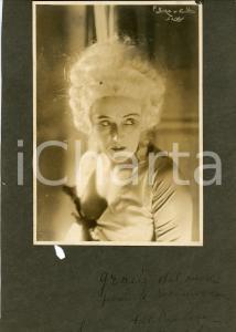 1920 ca BUENOS AIRES Cantante PAVLOVA - Foto con AUTOGRAFO 22x33 cm