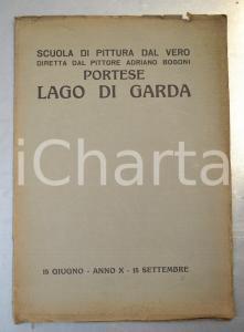 1932 PORTESE / LAGO DI GARDA Scuola di pittura di Adriano BOGONI *Pubblicazione