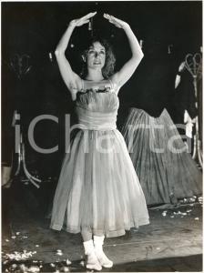 1980 ca DANZA ITALIA - Ritratto di ballerina - Foto di scena 18x24 cm