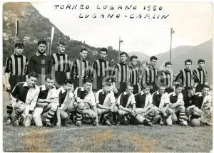 1950 CALCIO  - TORNEO LUGANO - LUGANO-CARLIN - Squadre *Foto 15x11 cm