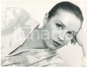 1980 ca TEATRO Attrice Valeria CIANGOTTINI - Ritratto - Foto 29x22 cm