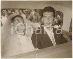 1962 MILANO Nozze Cesare MALDINI e Maria Luisa - Sposi in auto *Foto DANNEGGIATA