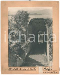 1960 ca SIRMIONE Grotte di Catullo - Foto ARTISTICA NOVAFOTO 24x29 cm