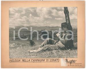 1960 ca LONATO DEL GARDA Melodia nella campagna - Foto ARTISTICA NOVAFOTO 29x24