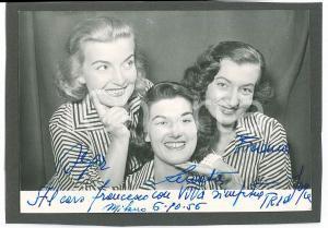 1956 MUSICA - MILANO - Trio JOYCE - Foto con AUTOGRAFO 15x10 cm