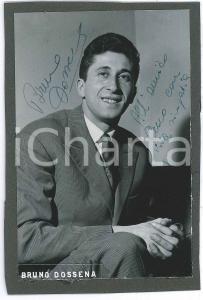 1955 ca Ballerino Bruno DOSSENA - Ritratto - Foto con AUTOGRAFO 10x15 cm