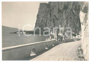1930 ca LAGO DI GARDA - TREMOSINE - La rupe di Campione - Foto VINTAGE 17x12