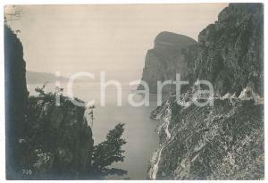 1930 ca LAGO DI GARDA - Strada di TREMOSINE - Rupe di Campione - Foto 17x12