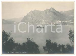 1930 ca LAGO D'ISEO - Isola di LORETO - Veduta - Foto 17x12 cm