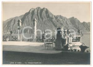 1930 ca LAGO D'ISEO Veduta della CORNA TRENTAPASSI - Foto VINTAGE 17x12