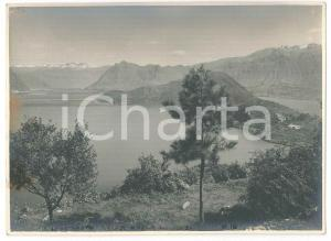 1930 ca LAGO D'ISEO Veduta dalla Rocca - Foto VINTAGE 17x12 cm