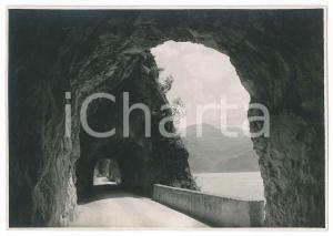 1930 ca LAGO D'ISEO Gallerie sulla strada PISOGNE-MATRONE - Foto VINTAGE 17x12