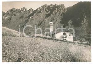 1930 ca VALLE CAMONICA Punta TISDEL e la chiesa di San Cassiano - Foto 17x12 cm