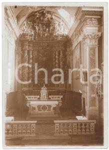 1930 ca ZONE (BS) Chiesa San Giovanni Battista - Altare maggiore - Foto 13x18 cm