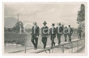 1925 ca UDINE Area delle Rogge - Autorità in visita (2) Foto 14x9 cm
