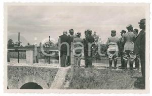 1925 ca UDINE Area delle Rogge - Autorità in visita (1) Foto 14x9 cm