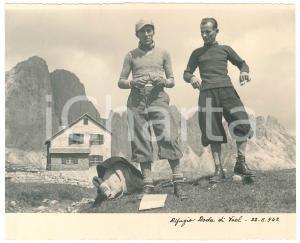 1942 DOLOMITI - Rifugio RAODA DI VAEL - Escursionisti - Foto 21x17 cm
