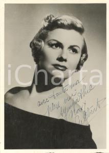 1950 ca FRANCE (?) Actress GILBERT - AUTOGRAPHED photo