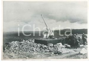 1940 WW2 Campagna di NORVEGIA - FLAK - Contraerea tedesca in un fiordo *Foto