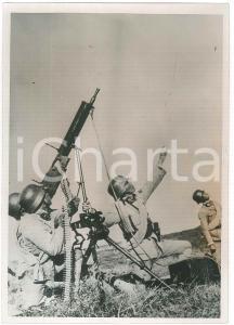 1938 2^ GUERRA SINO-GIAPPONESE - Cinesi con una mitragliatrice antiaerea *Foto