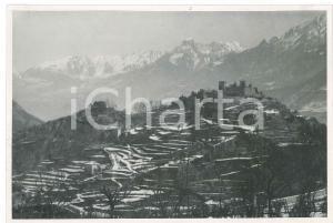 1930 LOMBARDIA - Castello di BRENO - Veduta - Foto 18x13 cm