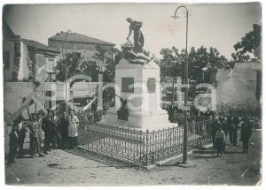 1928 LOMBARDIA (?) Inaugurazione monumento ai Caduti - Foto RARA 17x12 cm