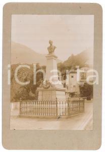 1900 ca CIVIDATE CAMUNO (BS) Monumento a Giuseppe TOVINI - Foto 13x19 cm