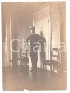 1915 ca FRANCE Portrait d'officier dans un salon - Photo VINTAGE 8x11 cm