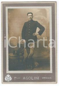 1890 ca VENEZIA Ritratto di ufficiale 79° Regg. Fanteria - Foto Fratelli AGOLINI