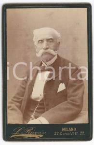 1884 MILANO Ritratto di Ambrogio BALOSSI MERLO *Fotografia LEONE RICCI