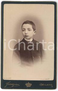 1883 MILANO Emilio CASNEDI bambino - Ritratto - Foto GANZINI 11x17 cm