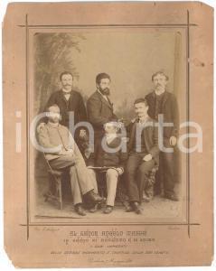 1891 PADOVA - SOCIETA' VENETA - Impiegati Sezione Movimento *Foto DANNEGGIATA