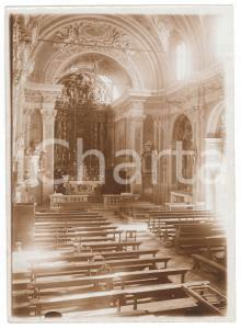 1930 ca ZONE (BS) Chiesa San Giovanni Battista - Interno - Foto 13x18 cm