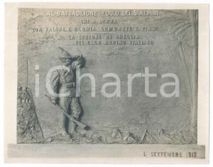 1912 CAI BRESCIA Scultore MAGONI - Bozzetto monumento Battaglione EDOLO - Foto