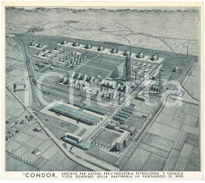 1949 PANTANEDO DI RHO Raffineria Società CONDOR - Veduta 21x18 cm