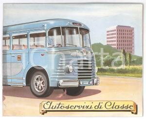 1960 ca TRASPORTI - ROMA - CIAT bus autolinee - Pieghevole pubblicitario