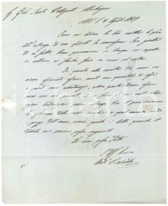 1849 MILANO Lettera Antonio RAINOLDI per cera gialla e giacenze - Prefilatelica