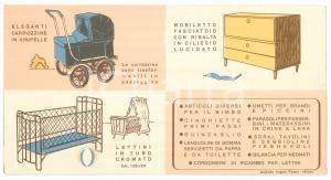 1960 ca MILANO - LA CULLA - Carrozzine e mobili per bambini *Pieghevole