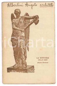 1930 ca COCCAGLIO (BS) Cappella votiva ai Caduti - Arch. A. ALBERTINI Libretto