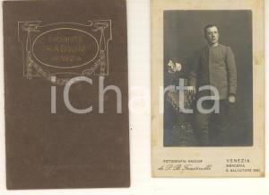1900 ca VENEZIA Ritratto di ufficiale 11° Regg. Fanteria - Foto FAUSTINELLI CDV