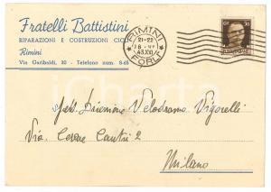 1943 RIMINI - CICLISMO - Armando BATTISTINI - Cartolina AUTOGRAFA